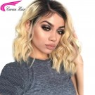 Ombre Blonde Lace Front Wig Brazilian Remy 1B/613 Human Hair wigs