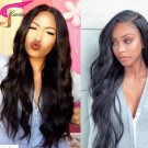 Brazilian Remy Natural Wave Human Hair Lace Wigs with Baby Hair for Black Women 130%