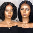 Carina 5x5 150% Density Closure Lace Wigs Brazilian Human Hair Bob Wigs with Baby Hair