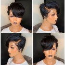 Customized Pixie Bob 13x6 Lace Wig 150% Density Brazilian Virgin Hair with Baby Hair