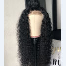 Carina 5x5 150% Density Curly Closure Lace Wigs Brazilian Human Hair with Baby Hair Pre Plucked