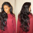Brazilian Virgin Hair Lace Front Wigs Wave Human Hair Wigs For Black Women with Baby Hair