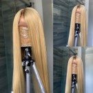 #4/613 Ombre Blonde Human Hair Lace Wigs Pre Plucked with Baby Hair
