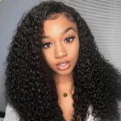 HD Lace Kinky Curly Human Hair Lace Front Wigs with Baby Hair Remy Full Lace Wigs Deep Part 13x6 Lace Frontal Wigs