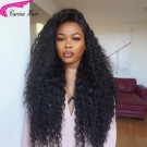 Glueless Full Lace Wig Curly Human Hair Lace Front Wigs Pre Plucked Hairline