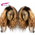 Carina Human Hair Full Lace Wig 1B/27 Loose Wave Lace Wigs For Women