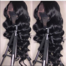Brazilian Virgin Body Wave Human Hair Lace Wigs with Baby Hair for Women