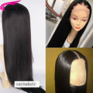 Silky Straight Wigs Brazilian Remy Human Hair Lace Wigs