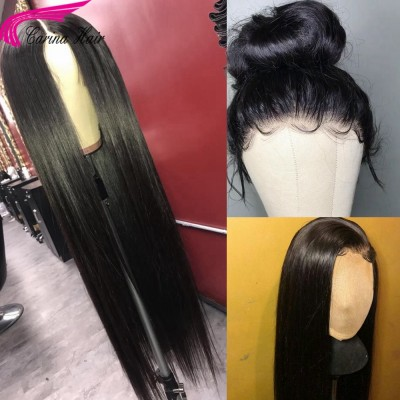 360 Wigs Silky Straight Human Hair Lace Wigs Pre Plucked Hairline