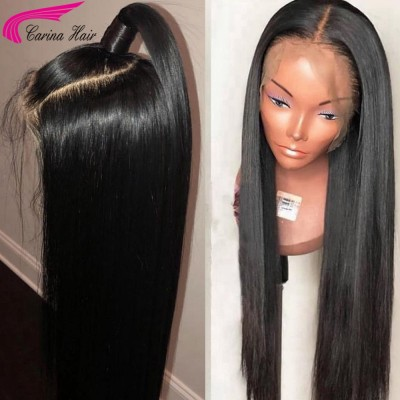 Carina 10A Silk Straight Human Hair Full Lace Wigs with Baby hair for Women