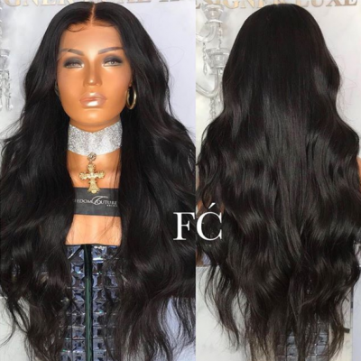 Brazilian Wave Human Hair Wigs with Baby Hair 180% Density Lace Front Wigs Remy Hair with Pre-plucked Hairline