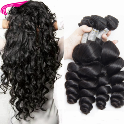 Loose Wave Brazilian Hair Weave 3 Bundles Real Human Hair Extensions