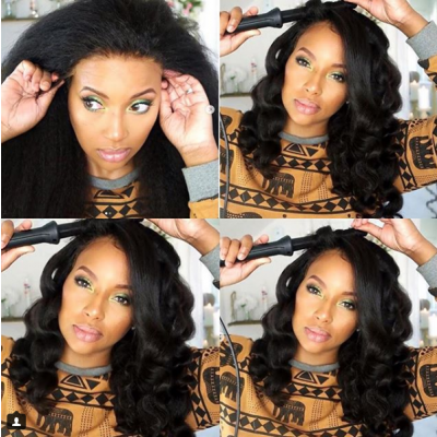 Italy Yaki Human Hair Wigs Glueless Lace Wigs for Black Women