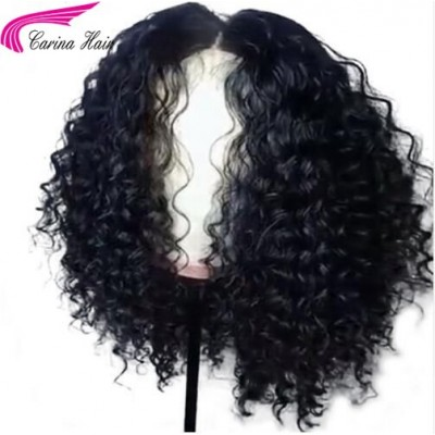 Curly Lace Wigs Brazilian Virgin Human Hair Lace Wigs with Baby Hair