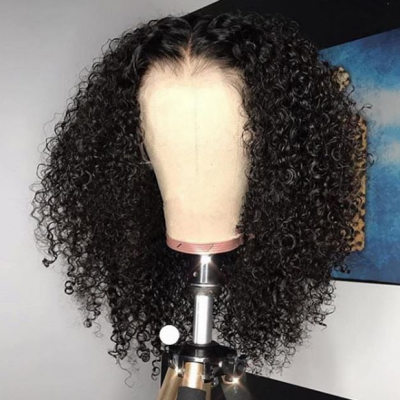 Curly Lace Front Wig Brazilian Remy Human Hair Full Lace Wigs with Baby Hair