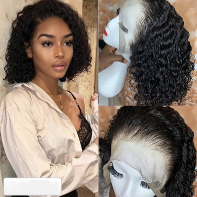 Carina Curly Bob Wigs Brazilian Human Hair Lace Wigs Pre Plucked Hairline