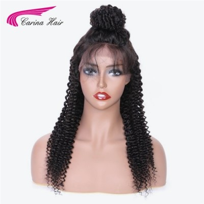 HD Curly Natural Color Human Hair Lace Wigs Pre Plucked with Baby Hair
