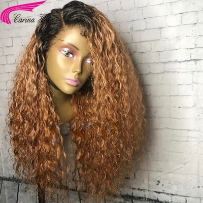 Carina Customized Ombre Color Human Hair Lace Front Wigs Brazilian Full Lace Wigs