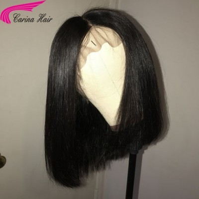 Bob Wigs Brazilian Virgin Human Hair Lace Wigs Pre Plucked Hairline