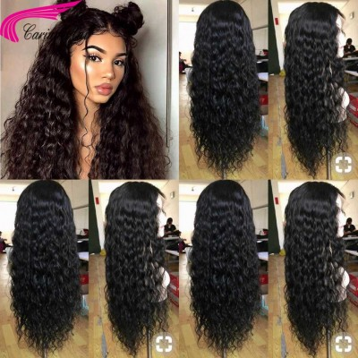 Deep Curly Human Hair Lace Front Wigs Pre Plucked Hairline Glueless Full Lace Wigs