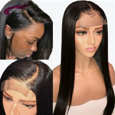 Carina 4x4 Closure Wig 18-28 Inch Lace Wigs Brazilian Human Hair Pre Plucked with Baby Hair