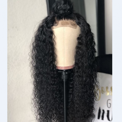 5x5 150% Density Curly Closure Lace Wigs Brazilian Human Hair with Baby Hair Pre Plucked