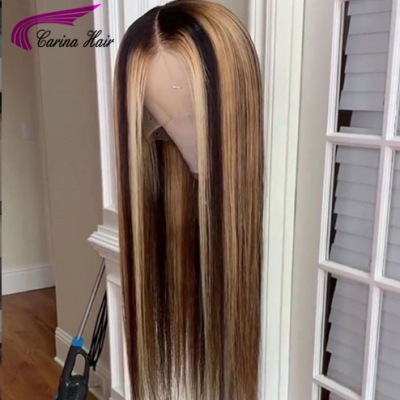 Virgin Hair Lace Front Wigs Pre Plucked Silky Straight Full Lace Wigs for Black Women