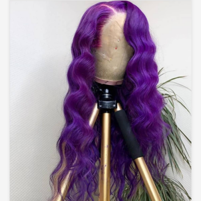 Purple Wave Remy Human Hair Lace Front Wig Pre-Plucked Hairline with Baby Hair Glueless Wigs