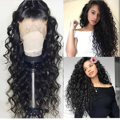 Carina Customized 10A Human Hair Wigs Loose Wave Lace Wigs with Baby Hair pre-plucked bleach knots wigs