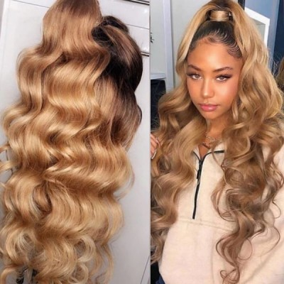 Carina Customized Wave Human Hair Lace Wigs Pre Plucked Hairline with Baby Hair