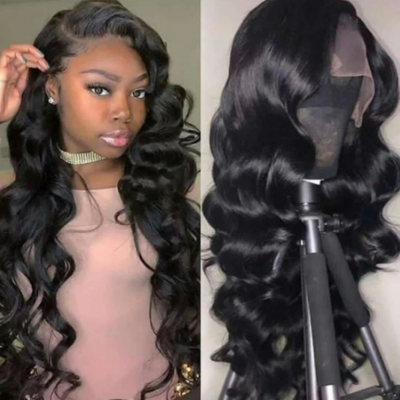 Carina Brazilian Virgin Wave Human Hair Lace Wigs with Baby Hair for Women