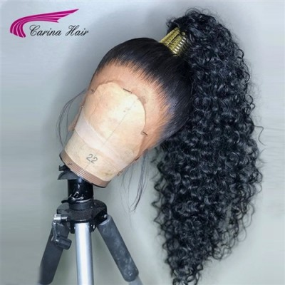 360 Curly Wig Remy Human Hair Lace Wigs Pre Plucked Hairline with Baby Hair