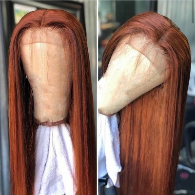Carina Customized Virgin Hair Silky Straight Full Lace Wigs Pre Plucked Hairline for Black Women