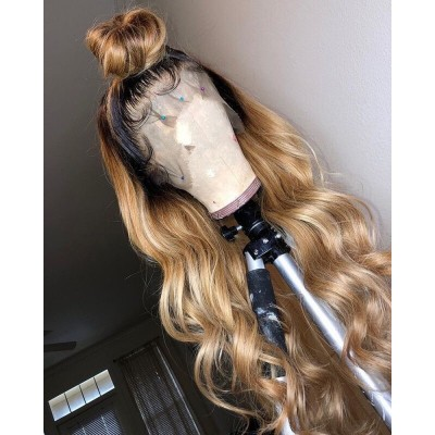 360 Wave Remy Hair 150% Lace Wigs Pre Plucked Hairline