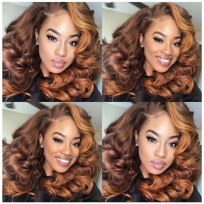 10A 180% Density Wave Human Hair Wigs Pre Plucked with Baby Hair