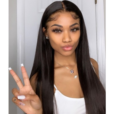 Carina 7x7 Closure Wig 30Inch Lace Wigs Brazilian Human Hair Pre Plucked with Baby Hair
