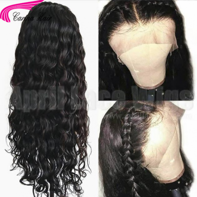 Water Wave Lace Front Wig Brazilian Remy Human Hair Full Lace Wigs Pre Plucked Hairline