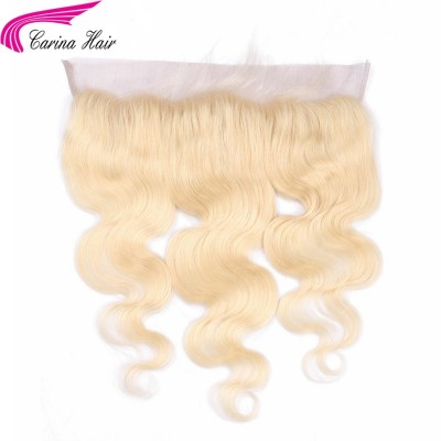 613 Blonde Brazilian Remy Human Hair Lace Frontal Body Wave 13x4 Bleached Knots Baby Hair