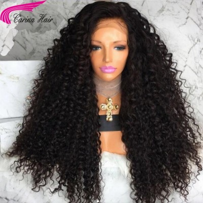 250 Density Curly 360 Lace Wig Human Hair Wigs With Baby Hair Bleached Knots