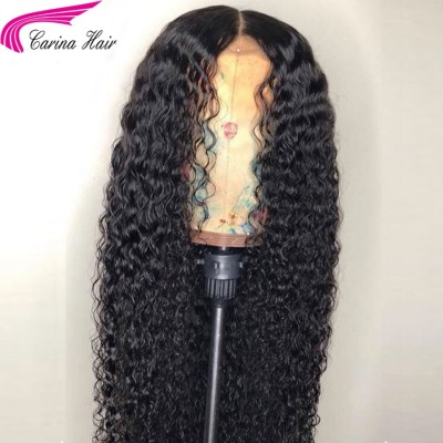 Curly 13*6 Deep Part Lace Front Wigs Brazilian Remy Human Hair Lace Wigs with Baby Hair
