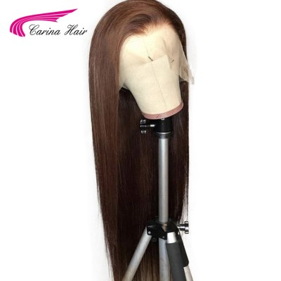 #2 Silky Straight Wigs Brazilian Human Hair Lace Wigs Pre Plucked with Baby Hair