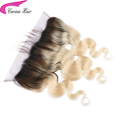 Body Wave 1B/613 Ombre Color Human Hair Lace Frontal 13x4''