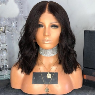 Carina Wave Bob Lace Front Wigs Pre Plucked 13x6 Deep Part Human Hair Wigs with Baby Hair