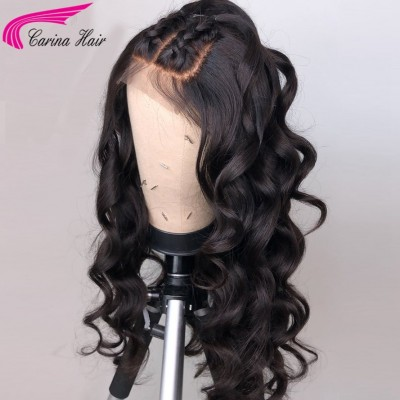 Glueless Lace Wigs Loose Wave Human Hair Lace Wigs for Women 180%