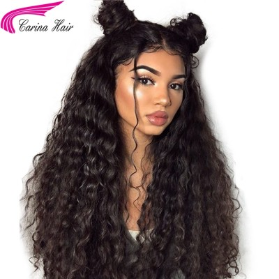 Carina High Density Curly Human Hair Lace Wigs 180% Pre Plucked Full Lace Wigs
