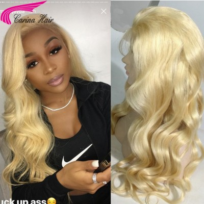 HD Swiss Lace Body Wave 613 Color Lace Wigs Brazilian Remy Blonde Human Hair Wigs