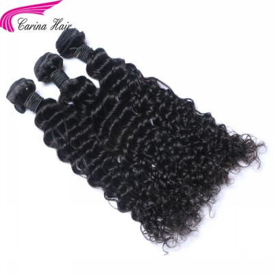 Carina Deep 10A Wave Brazilian Hair Weave 3 Bundles Real Human Hair Extensions