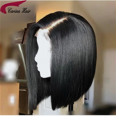 Short Bob Wigs Deep Part 13x6 Lace Frontal Human Hair Wigs