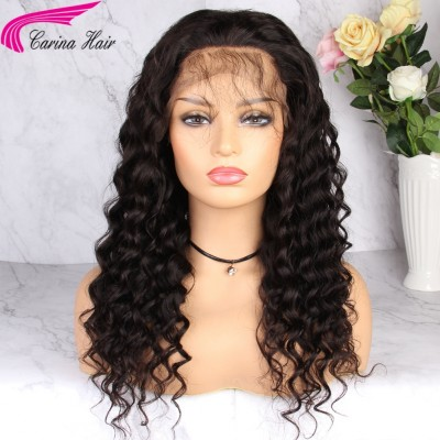 180% Brazilian Remy Human Hair Lace Front Wigs Pre Plucked Full Lace Wigs