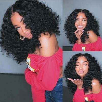 Carina Customized Wave Human Hair Lace Wigs with Baby Hair Pre Plucked Hairline